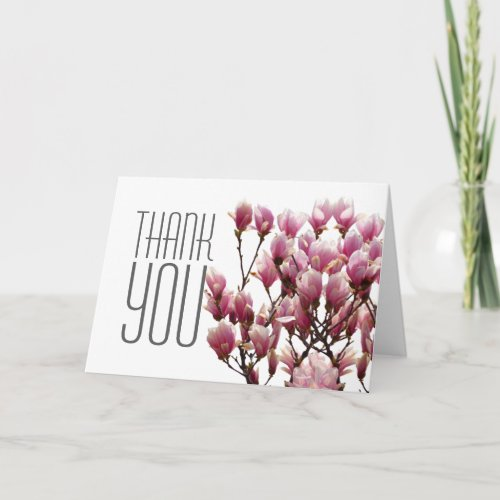 Floral Thank You Magnolia Elegant Modern Plain