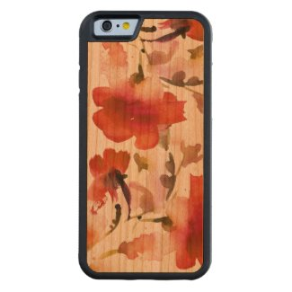 Floral watercolor Cherry iPhone 6 Bumper Case