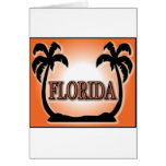 Florida Airbrushed Look Orange Sunset Palm Trees cards