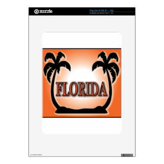 Florida Airbrushed Look Orange Sunset Palm Trees Skin For The iPad