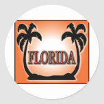 Florida Airbrushed Look Orange Sunset Palm Trees stickers