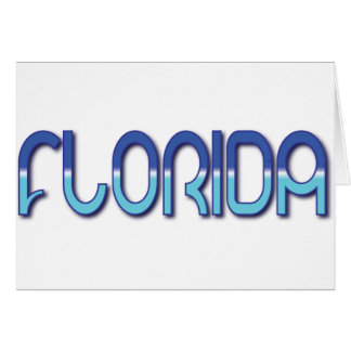 Florida - Blue Gradient Cards