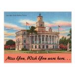 Florida, Coral Gables, Court House Postcard