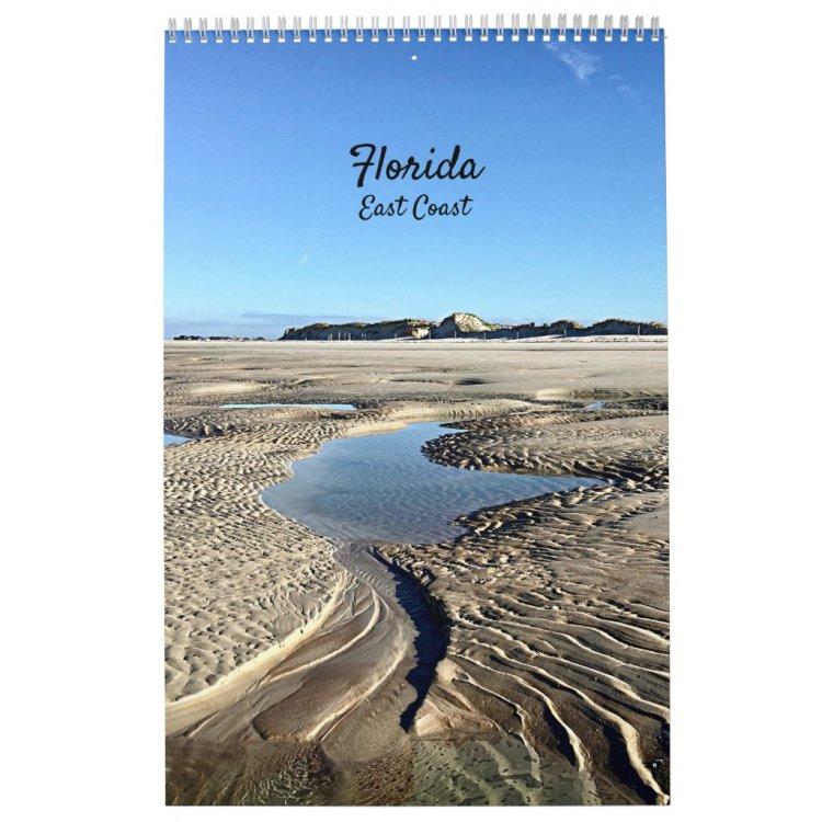 Florida East Coast Beaches Backwater Nature Calendar