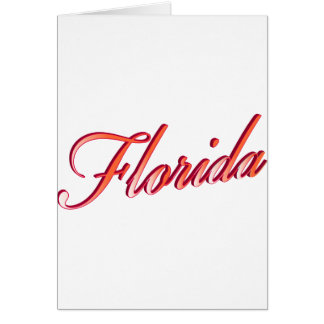 Florida Elegant Script Greeting Card