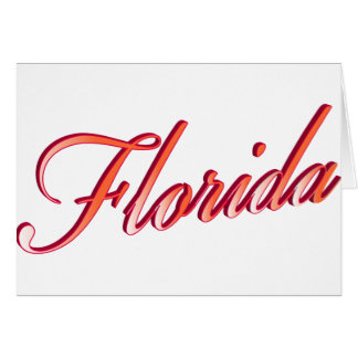 Florida Elegant Script Greeting Cards
