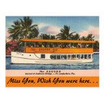 Florida, Ft. Lauderdale, Tour Boat Postcard