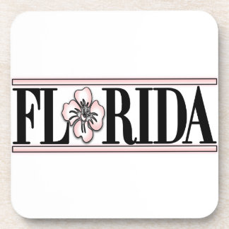 Florida Hibiscus Flower Coasters