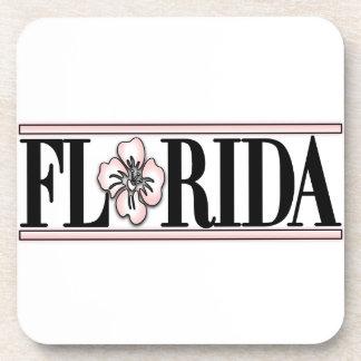 Florida Hibiscus Flower Coasters