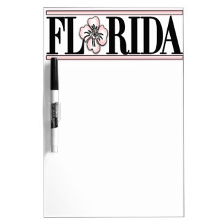 Florida Hibiscus Flower Dry Erase Whiteboards