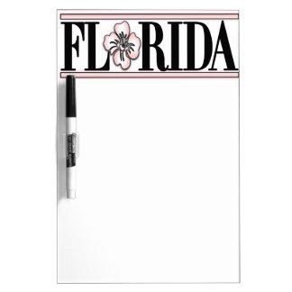 Florida Hibiscus Flower Dry Erase Whiteboards
