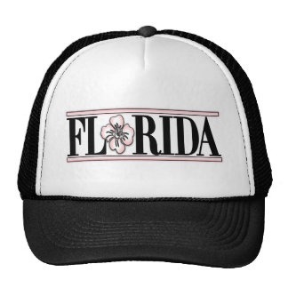 Florida Hibiscus Flower Trucker Hat