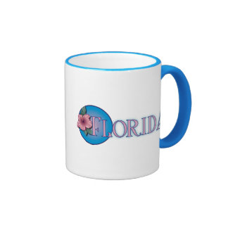 Florida Hibiscus Pink & Blue Mugs
