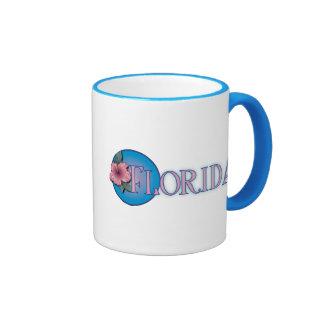 Florida Hibiscus Pink & Blue Mugs