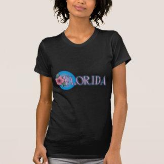 Florida Hibiscus Pink & Blue T-shirt