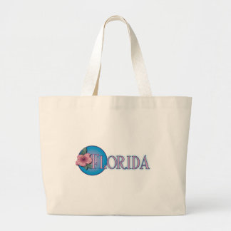 Florida Hibiscus Pink & Blue Tote Bag