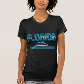 Florida Neon Palm Trees AQUA Shirts