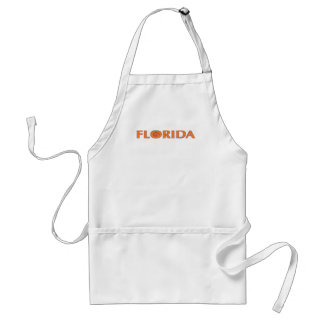 FLORIDA Orange Text Apron