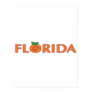 FLORIDA Orange Text Post Cards