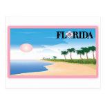 Florida Pink Hibiscus Postcard Beach Scene postcards