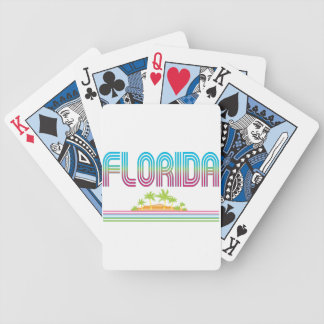 FLORIDA Retro Neon Palm Trees Bicycle Poker Cards
