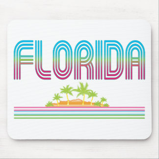 FLORIDA Retro Neon Palm Trees Mouse Pad