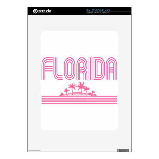 Florida Retro Neon Palm Trees Pink iPad Skins