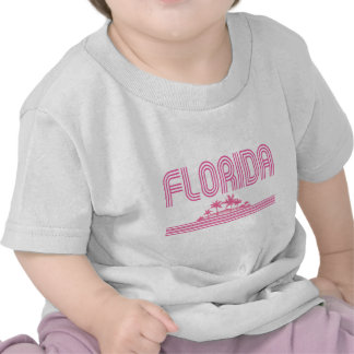 Florida Retro Neon Palm Trees Pink Tees