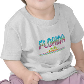 FLORIDA Retro Neon Palm Trees Tshirts