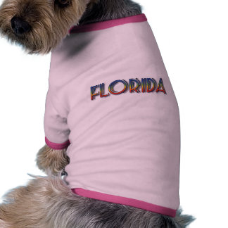 Florida Seaside - Rainbow Text Dog Tee