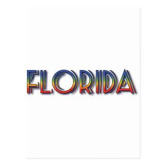 Florida Seaside - Rainbow Text Post Cards