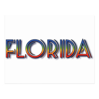 Florida Seaside - Rainbow Text Postcards