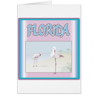Florida White Flamingos Card