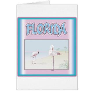 Florida White Flamingos Card