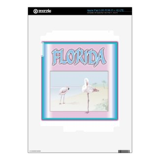 Florida White Flamingos Ipad 3 Skin