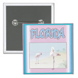 Florida White Flamingos buttons