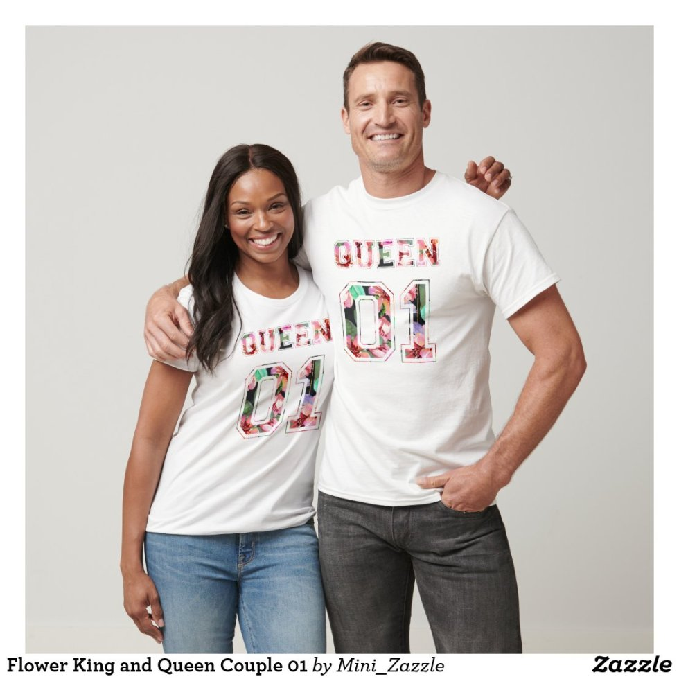 Flower King and Queen Couple 01 T-Shirt