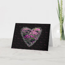 Flowering Heart Valentine Love Romance Card