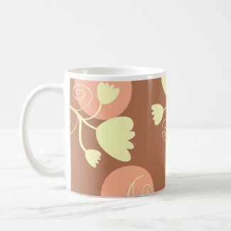 Flowers and circles - Mug mug