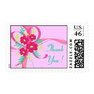 Flowers and ribbon - Postage