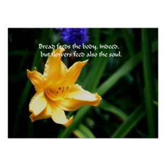 Flowers are the nourishment of the soul posters