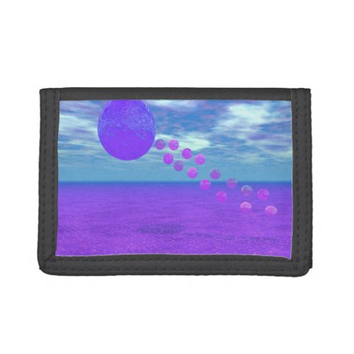 Flying Kite, Abstract Violet, Orchid, Rose, Purple Trifold Wallet