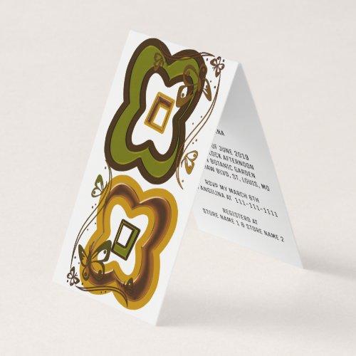 Folded Vertical Tent Invitation Card