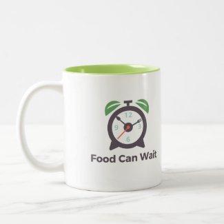 Food Can Wait Two-tone Mug