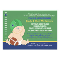 cartoon baby football baby shower invitation
