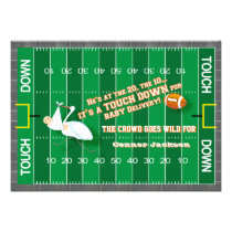 touchdown football field baby shower invitation
