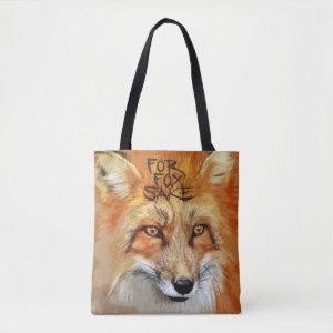 For Fox Sake Image Tote Bag