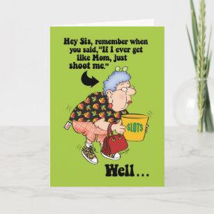 Funny Old Lady Birthday Cards Zazzle