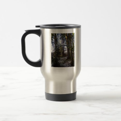 Forest Sun Rays in the Snow #32 mug