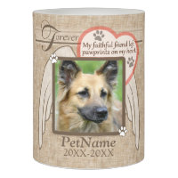 Forever Loved Angel Wings Pet Sympathy Custom Flameless Candle